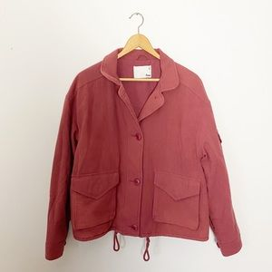 Wilfred Free Oversized Dusty Rose Lined Jacket M